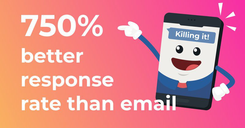 sms response rates exceed email
