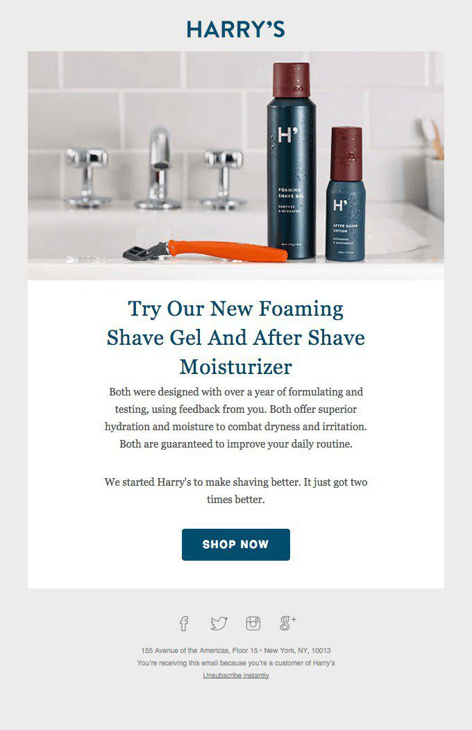 Email Example Cross-sell Harry's Shaving
