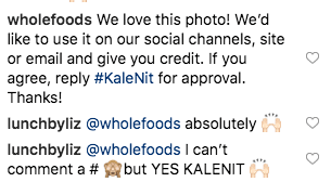Wholefoods Request for User Generated Content Example